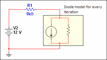 linearization diode model