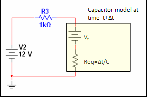 numerical integration capacitor model