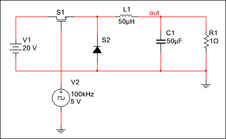 transistor switch example